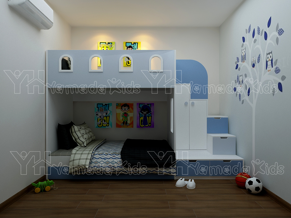 Set phòng giường tầng cho bé trai Y20