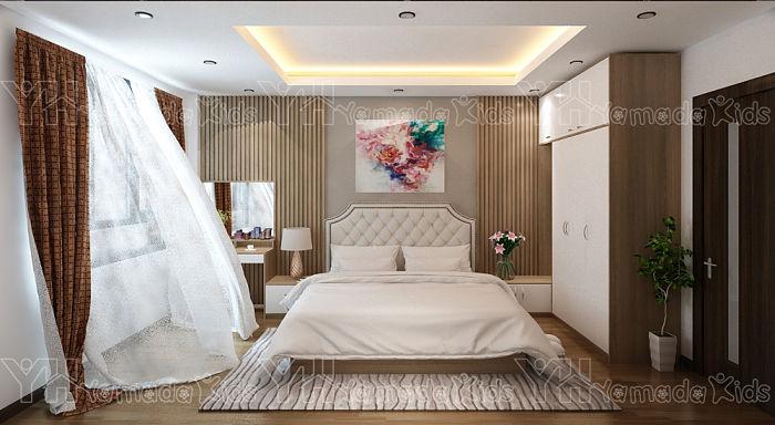 Mẫu phòng ngủ master phong cách bán cổ điển