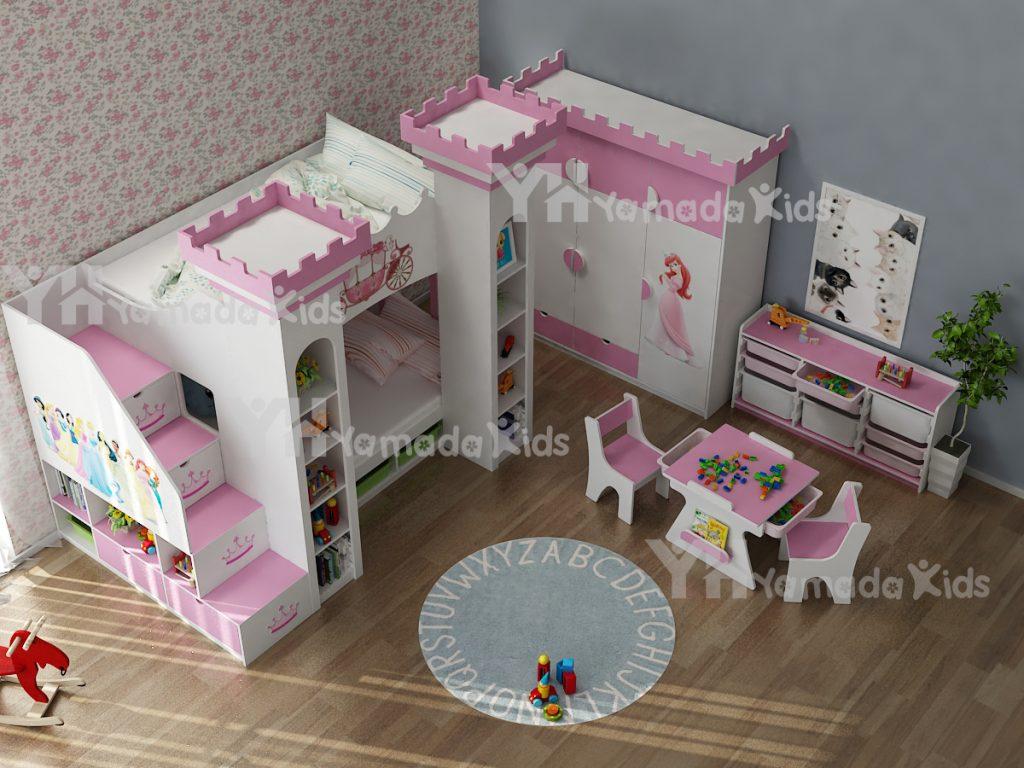 Bộ phòng công chúa cho bé gái Y03