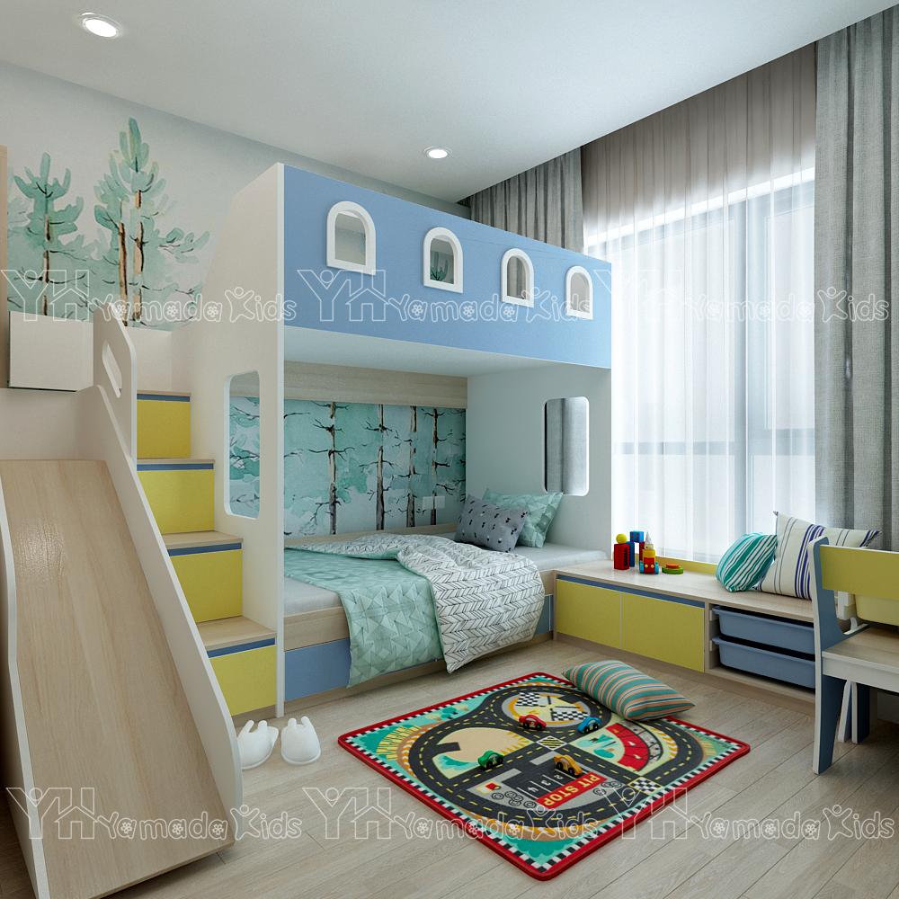 Thiết kế và thi công set phòng cho bé trai