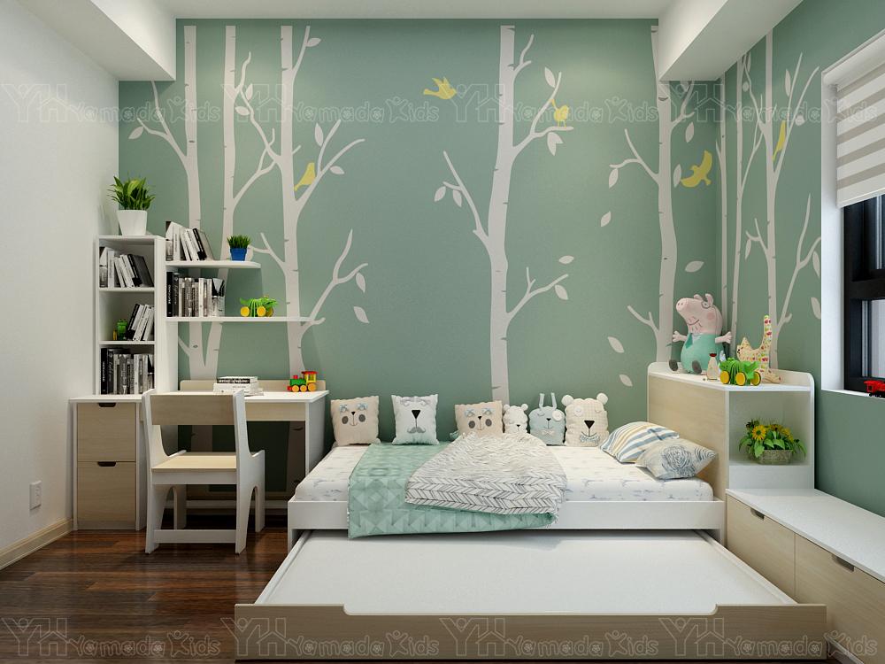 Thiết kế và thi công set phòng giường kéo cho bé trai