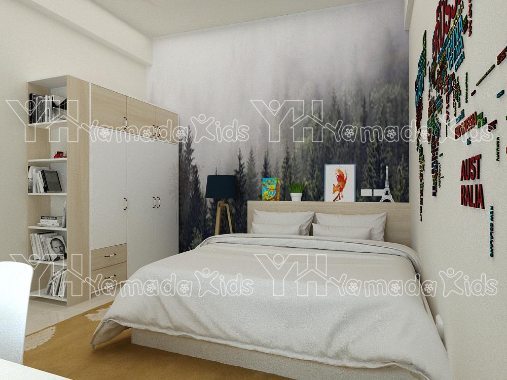 Phòng ngủ đơn Y22 cho bé trai